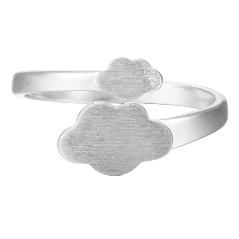 .925 STERLING SILVER CLOUDY DAY ADJUSTABLE RING
