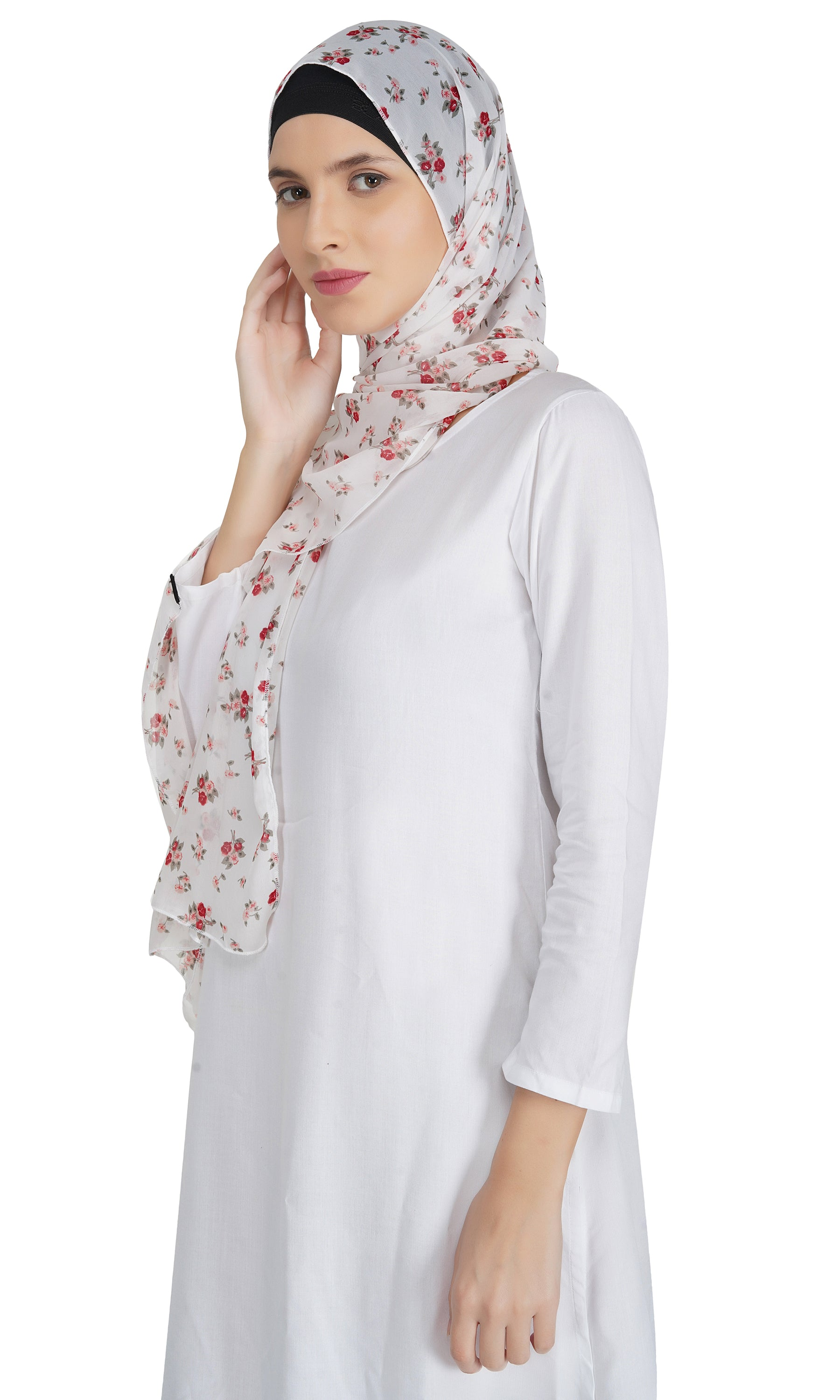 Ruqsar Floral Corsage Stole