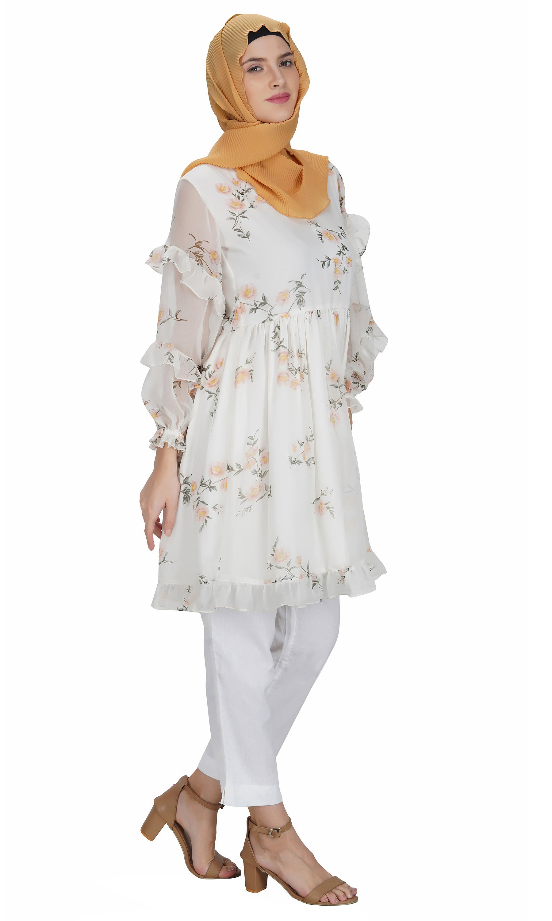 Ruffle Sleeve Dress By Ruqsar