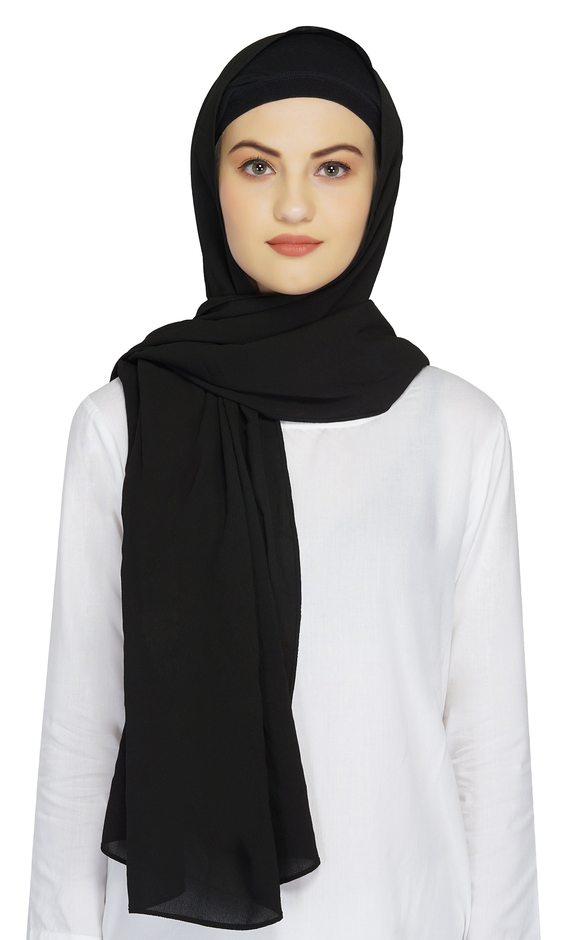Ruqsar Bubble Black Headscarf