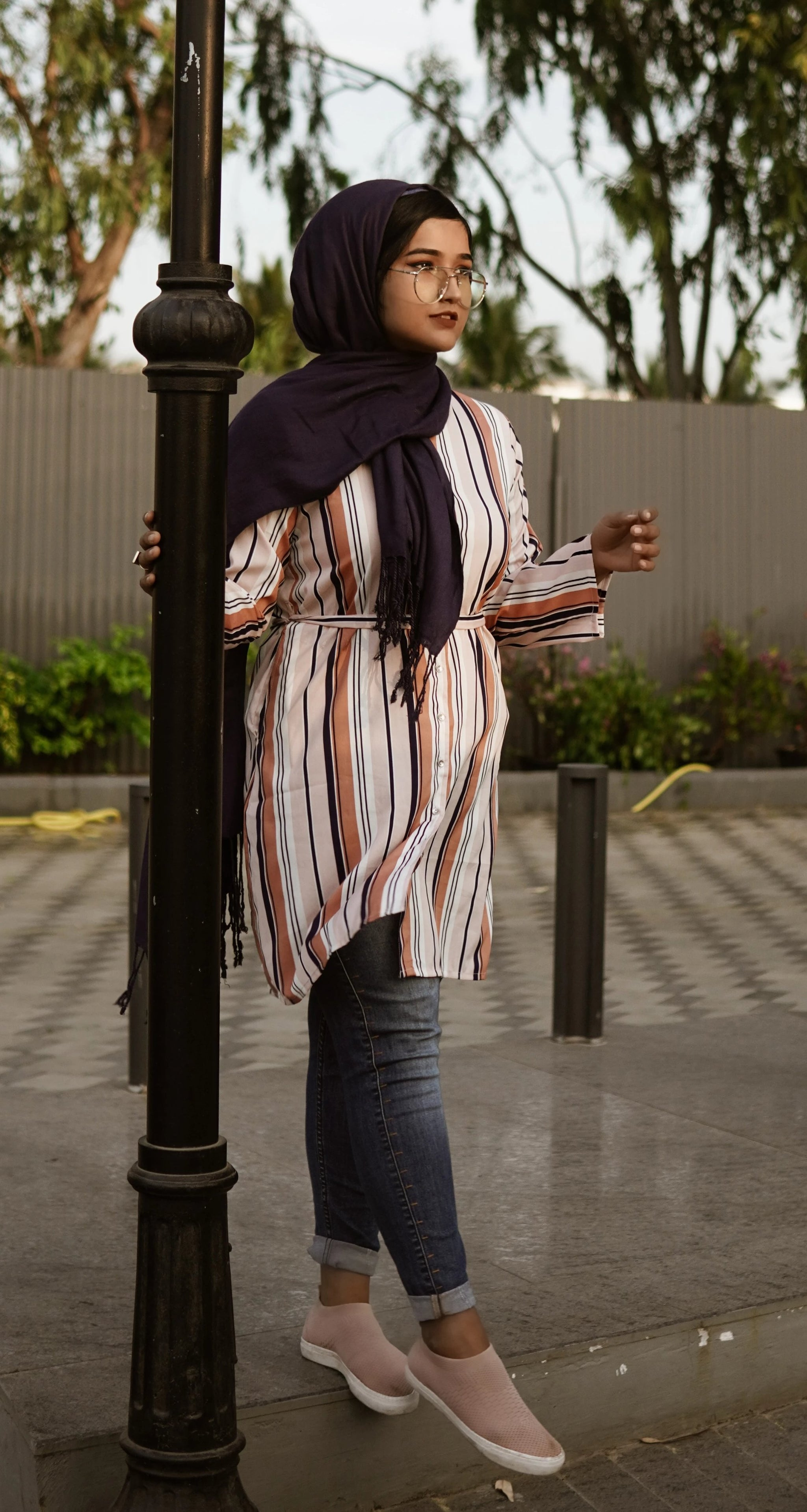 Striped Shrug Modest wear by Ruqsar