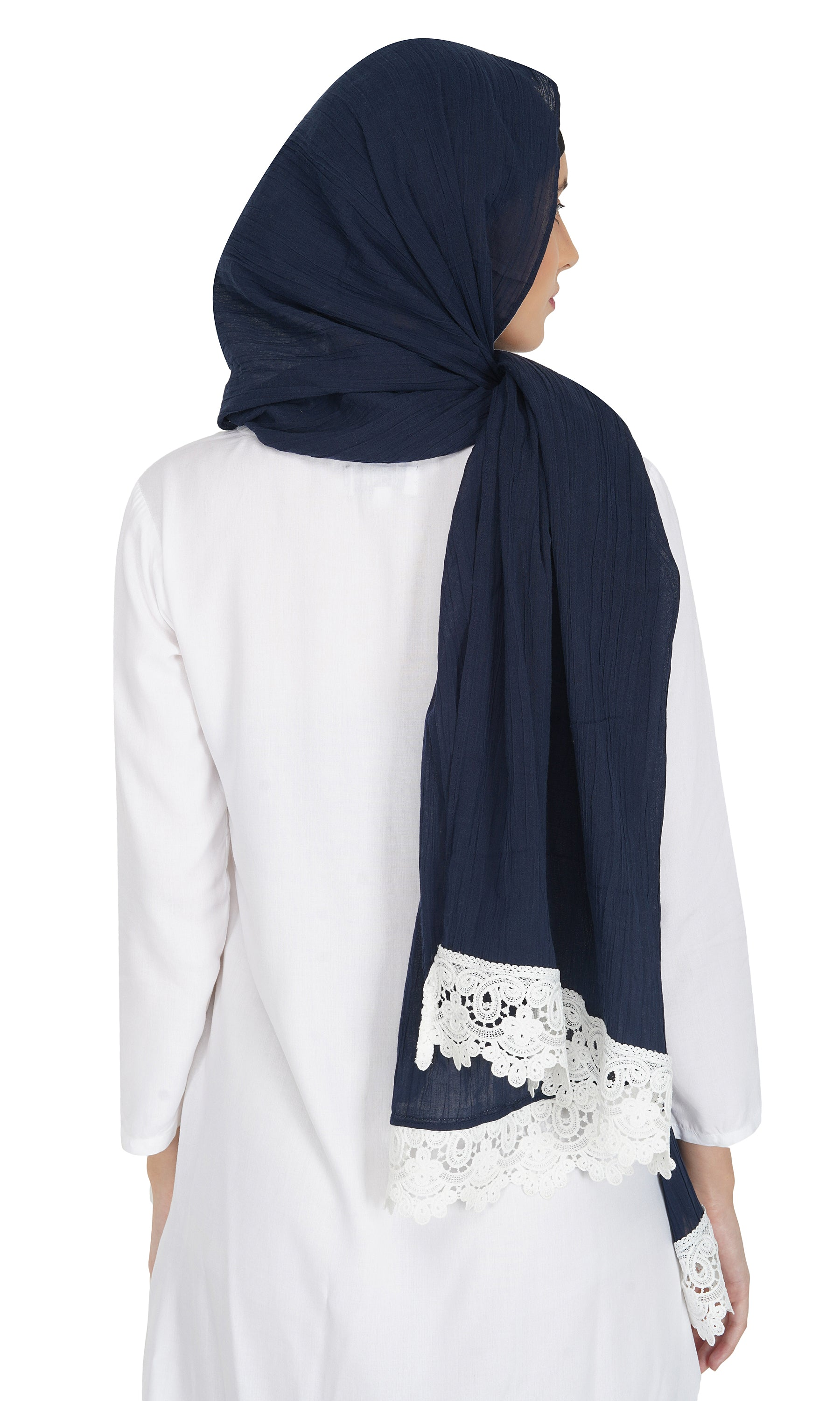 Ruqsar Laced Azure Stole