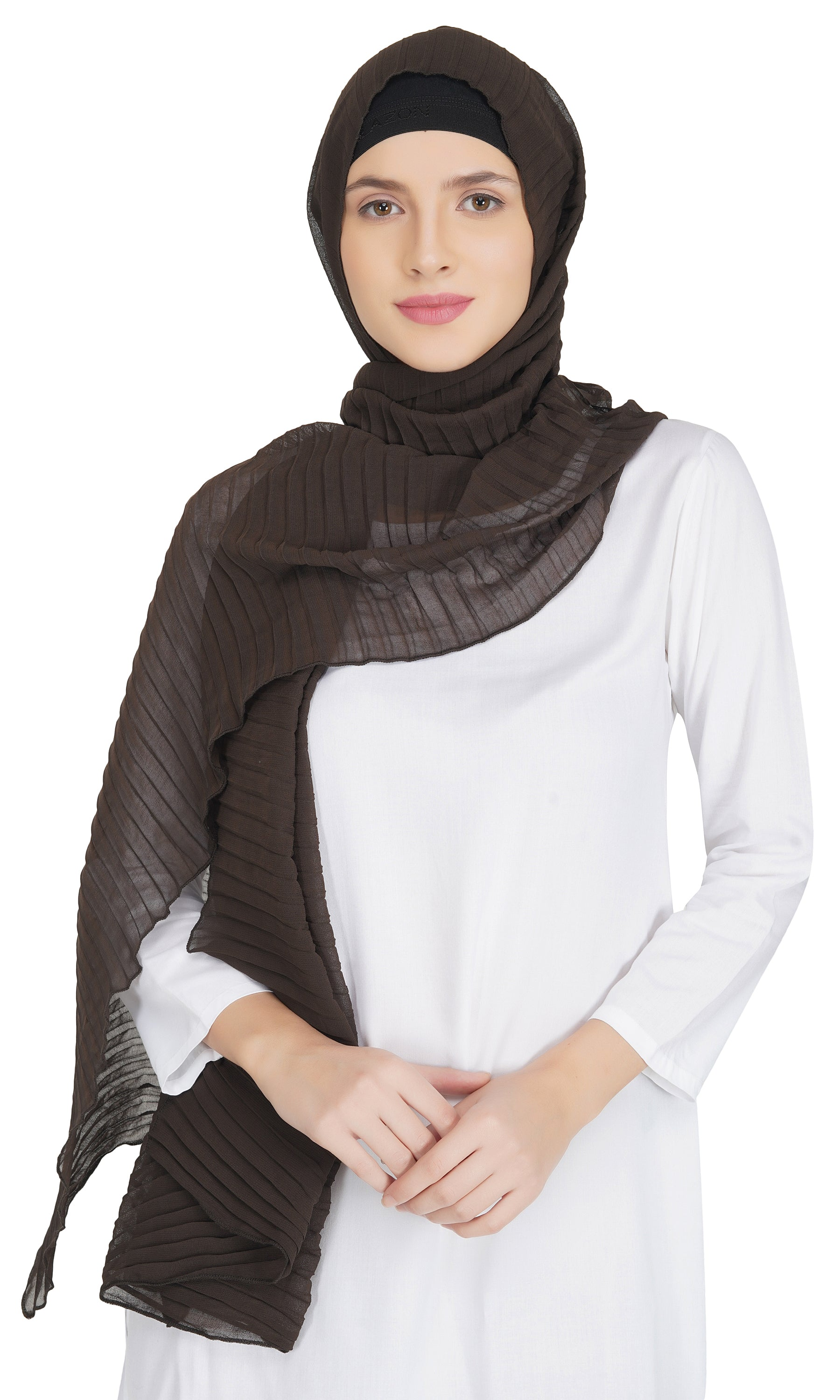 Ruqsar Combo Chocolate Latte stole and Taupe Twist stole