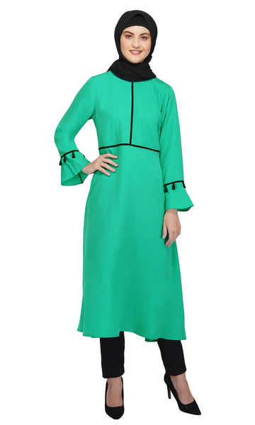 Pinned Emerald Dress By Ruqsar