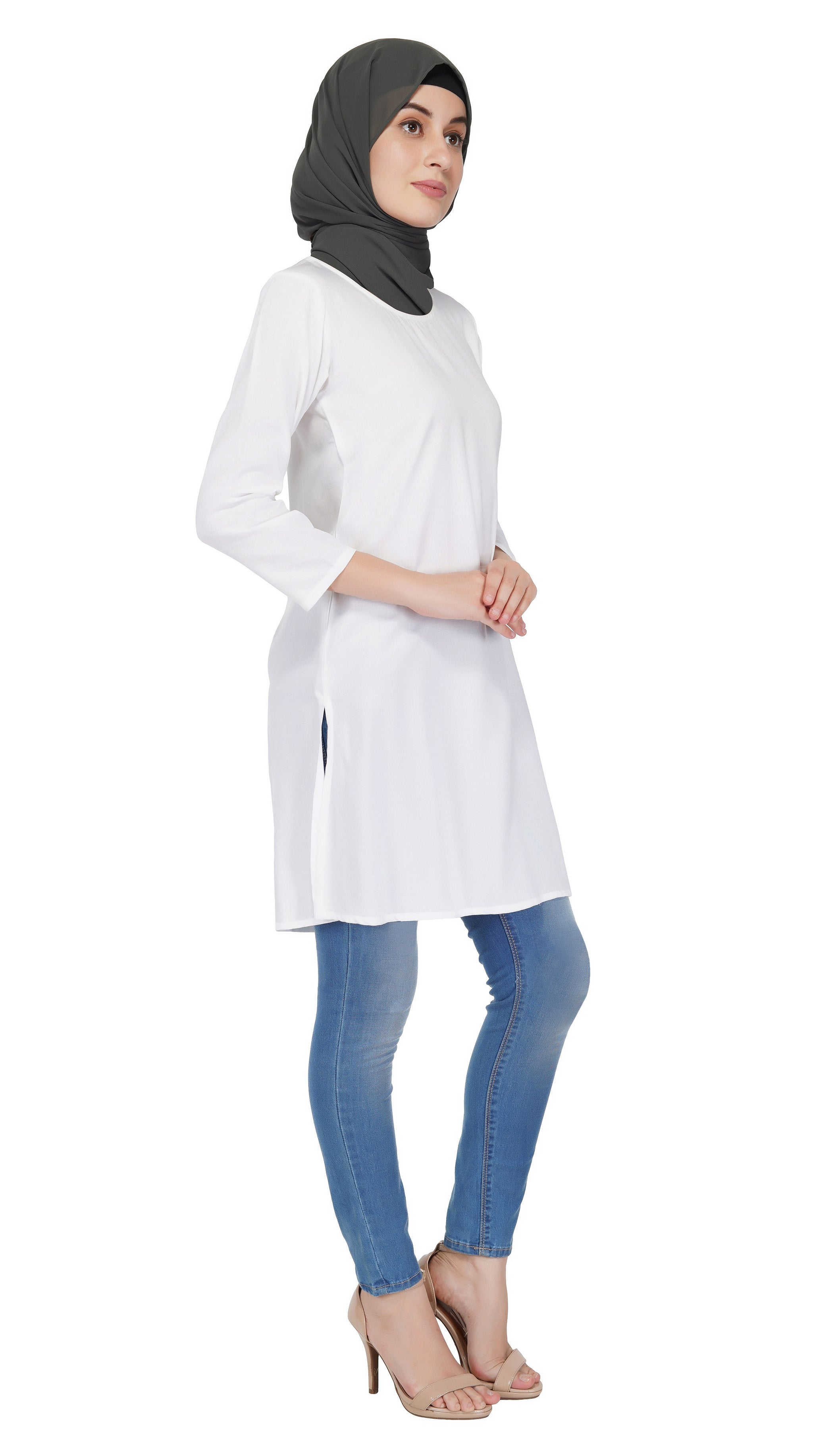 Basics White Tunic By Ruqsar