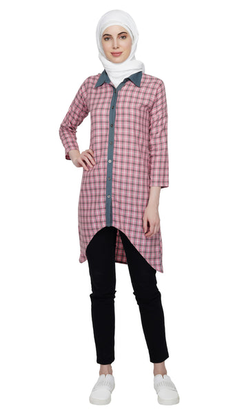 Asymmetric Shirt Dress By Ruqsar