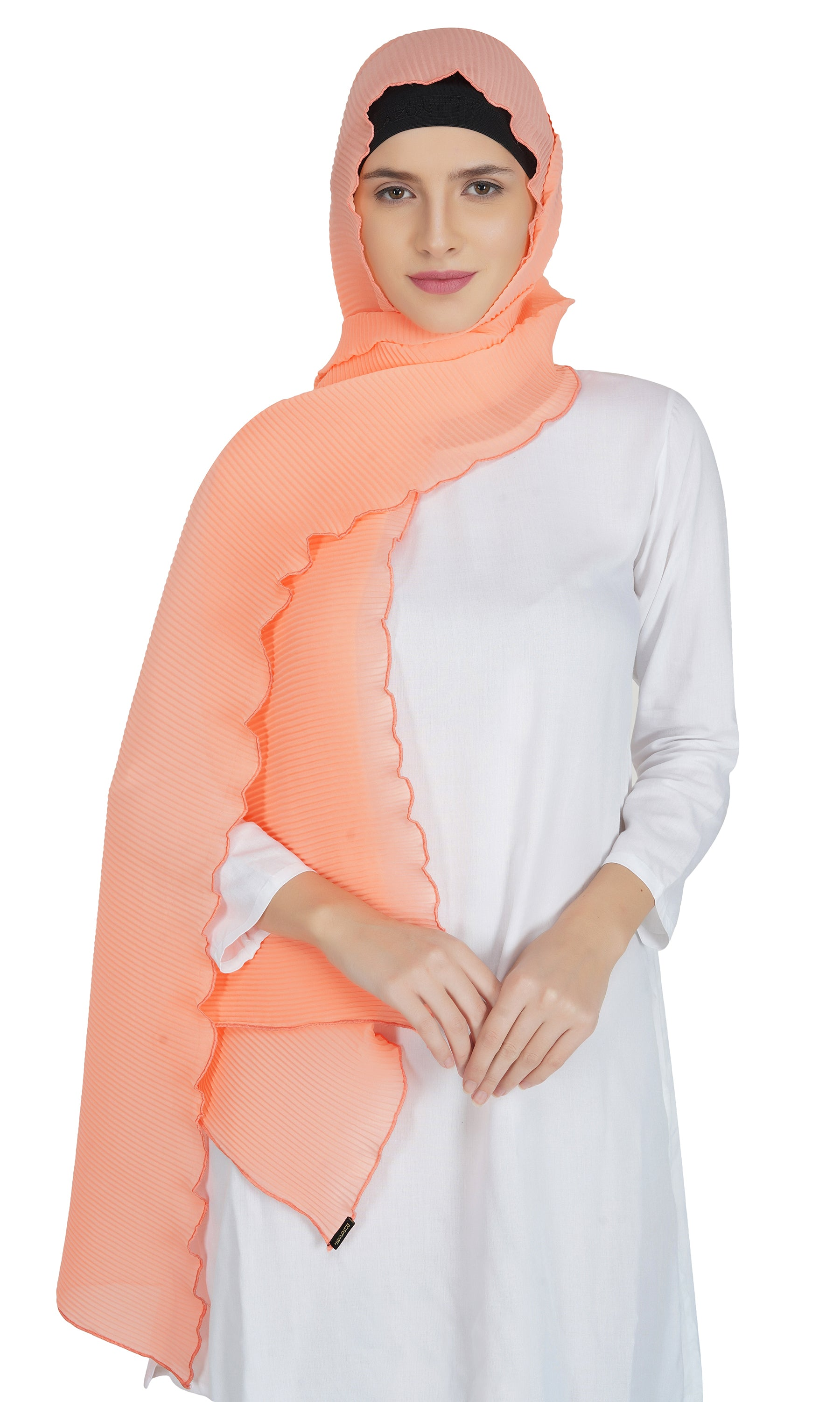 Ruqsar Combo Peachy Neon Stole and Simply Turquoise Stole