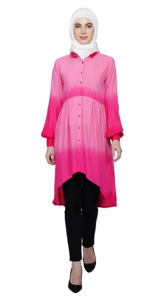 Ruqsar Pink Ombre Tunic Dress and Into the Wild Dress Combo