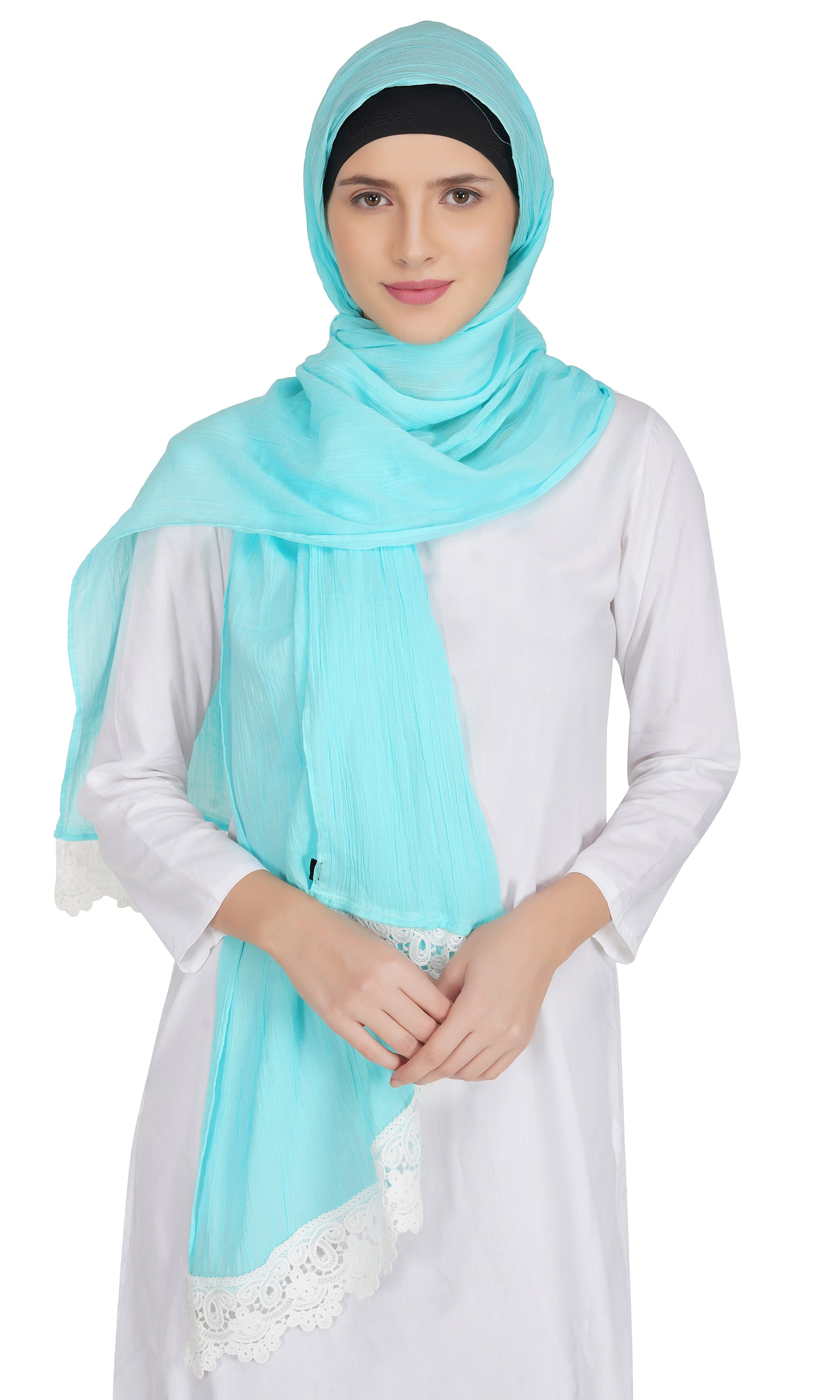 Ruqsar Combo Laced Azure Stole and Laced Arctic Stole