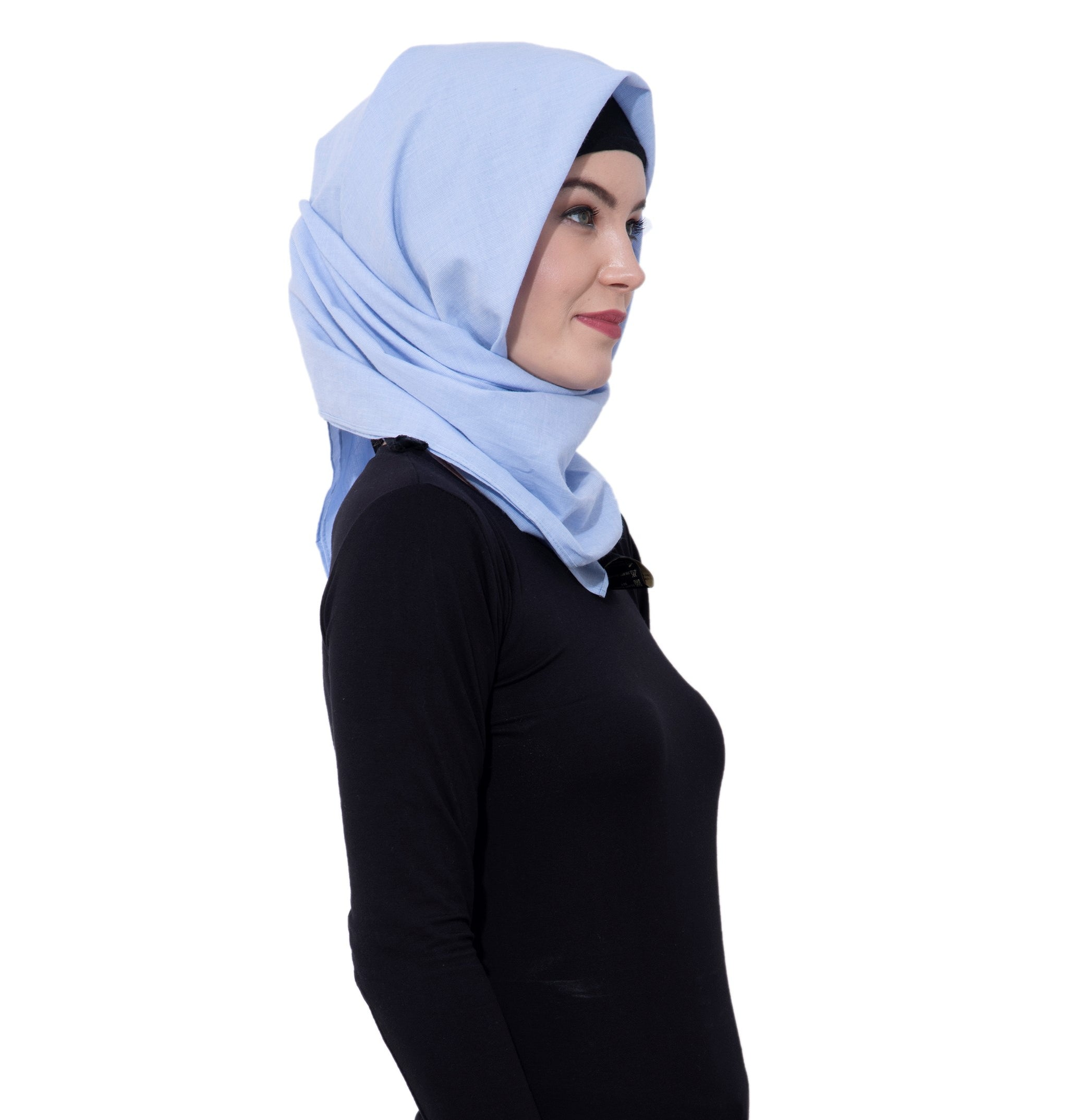 Ruqsar Sky Blue Square Headscarf