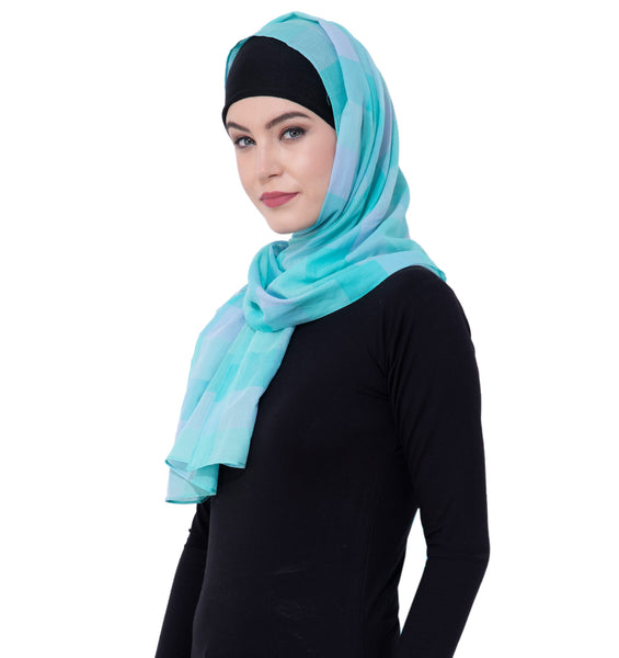 Ruqsar Shades of Blue Headscarf
