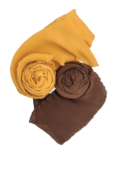Ruqsar Combo Chocolate Latte stole and Honey Gold stole