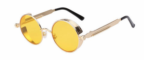 Steampunk Sunglasses (Gold) - Yellow Lens
