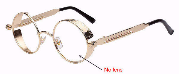 Steampunk Sunglasses (Gold) - No Lens