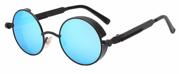 Steampunk Sunglasses (Black) - Mirror Lens
