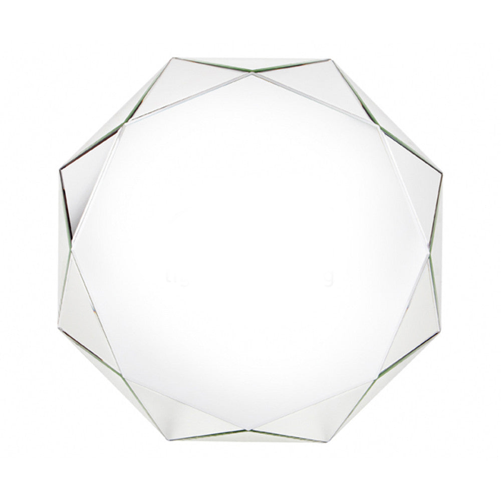 Calais Faceted Wall Mirror Radiant Reflections