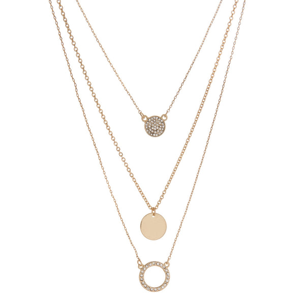 Gold Tone 3 Layer Necklace