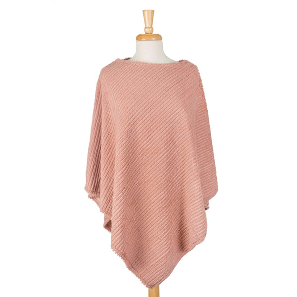 Soft, Heavyweight Poncho Top (Available in 3 Colors)