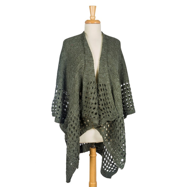Knit Cape with Loop Trim