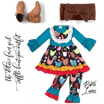 The Deluxe Farm Girl Ruffle Boutique Outfit