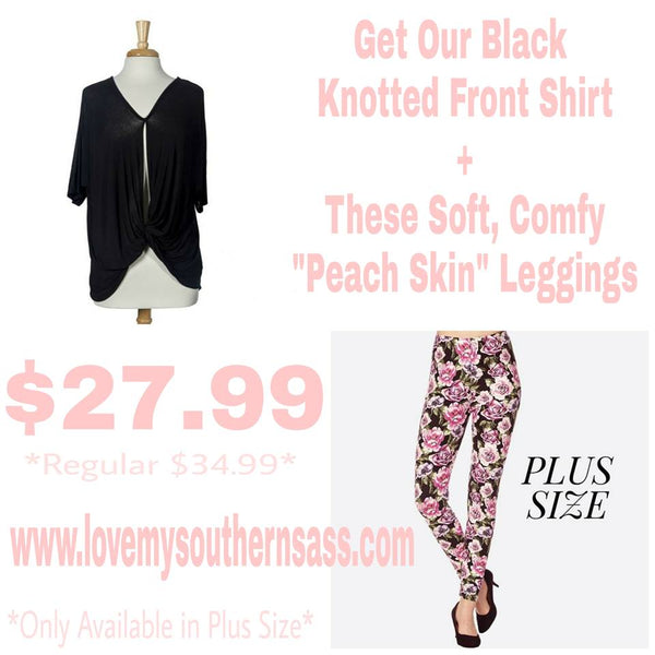 Leggings and Knotted Shirt Promo