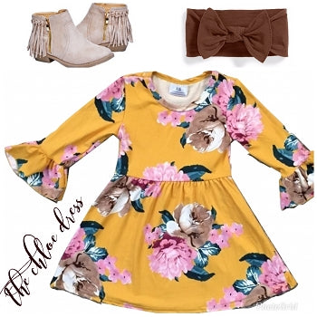 Yellow Floral Dress - The Chloe