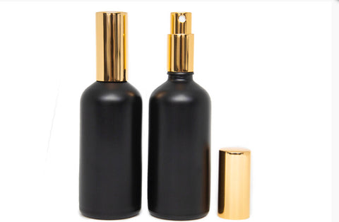 100ml bottles ~ Gold Spray Tops