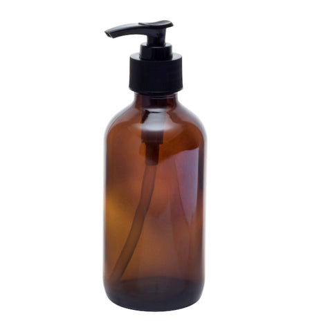 250ml Glass Bottle with Lotion Pump