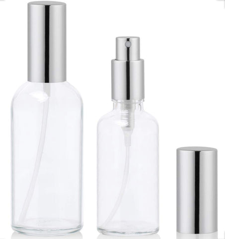 30ml Glass Spray bottle with Silver Top