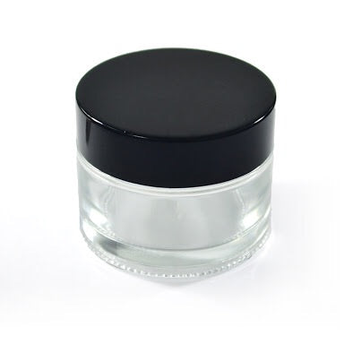 50g clear glass cosmetic jar