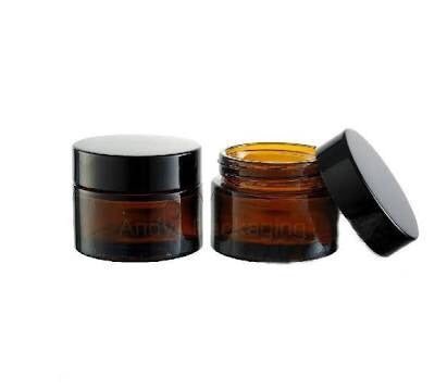 50g Amber glass lotion jars