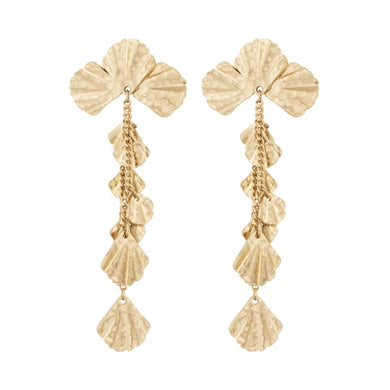 VALERIE STATEMENT EARRING - SOFT GOLD