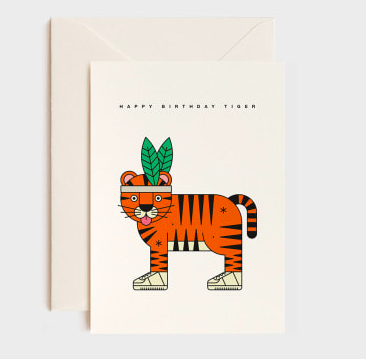 HIGH FIVE TIGER CARD