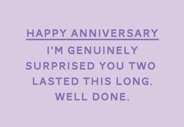 HAPPY ANNIVERSARY - SURPRISED CARD