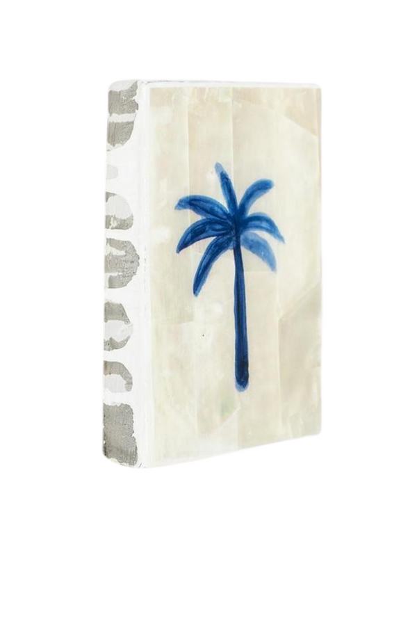 Ahoy Trader Blue Palm Mini Tile Shell Side Image