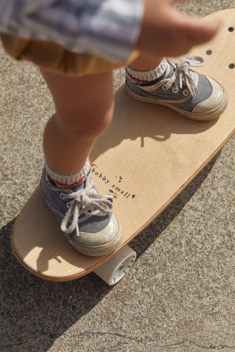 Bobby Small Toby Skateboard Made From Canadian Maple Construction Skate Kids Lifestyle Image