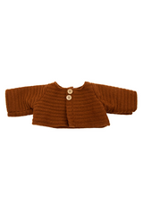 OLLI ELLA DINKUM DOLL CARDIGAN CHESTNUT BROWN