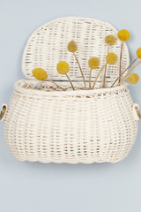 Olli Ella Mini Chari Bag White Basket Image Loft