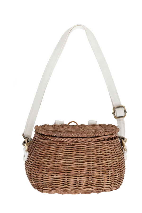 Olli Ella Mini Chari Natural Bag Front Loft Lifestyle Image
