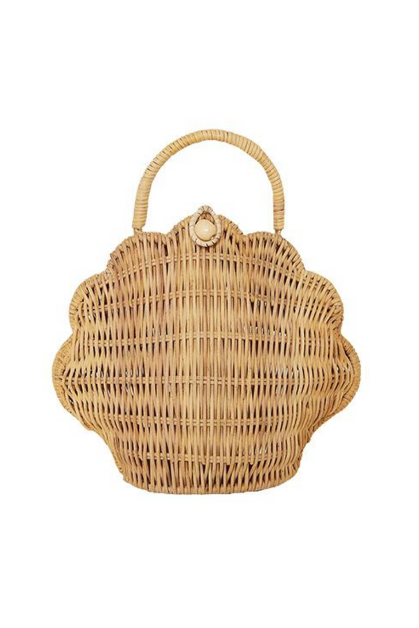 Olli Ella Shell Bag Purse Straw Loft Front Image