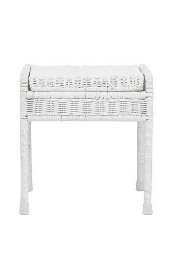 Olli Ella Storie Stool White Front On Image Available At Loft