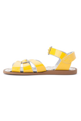 Salt Water Original Shiny Yellow Sandal Kids Side Two Loft Image