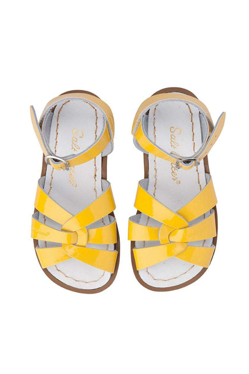 Salt Water Original Shiny Yellow Sandal Kids Top Loft Image