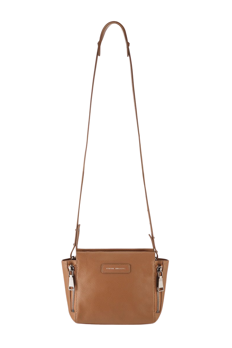 Status Anxiety The Ascendants Bag Tan Front Hanging Strap Image Loft