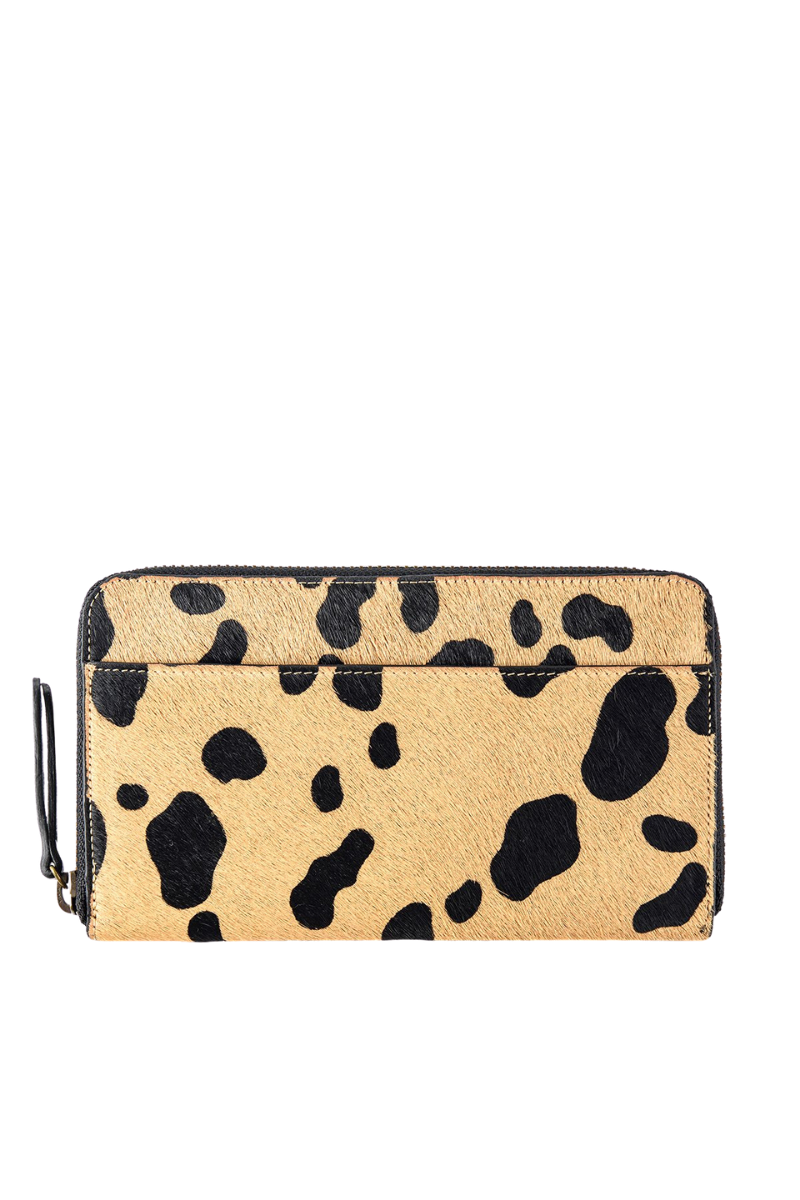Status Anxiety Delilah Wallet Wild Cat Cowhide Leather Front Plain Image
