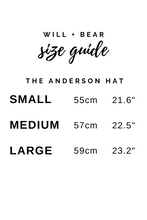 Will Bear Anderson Mens Womens Wide Floppy Brim Fedora Australian Wool Size Chart