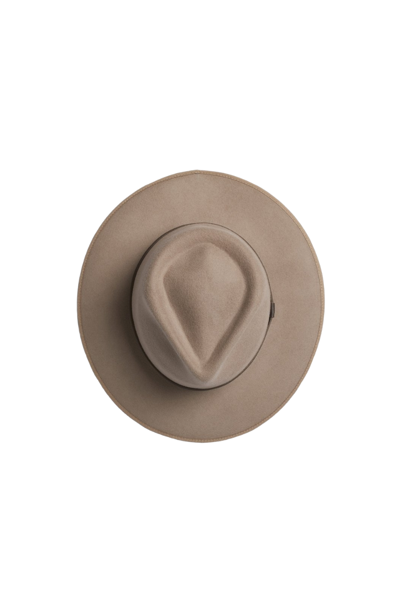 Will And Bear Calloway Fawn Mens Womens Wide Brim Fedora Australian Wool Top Image