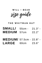 Will And Bear Whitman Moss Men's Womens Wide Round Crown Australian Wool Hat Size Guide