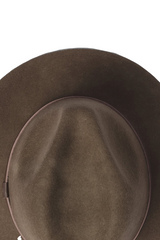 Will And Bear William Hat in Brown Mens Womens Wide Floppy Brim Fedora Australian Wool Detail Image