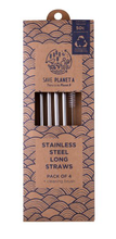 STAINLESS STEELE LONG STRAWS 4PK